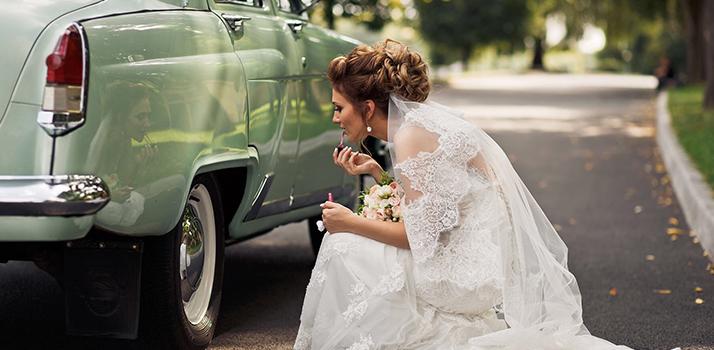Trucco da sposa auto